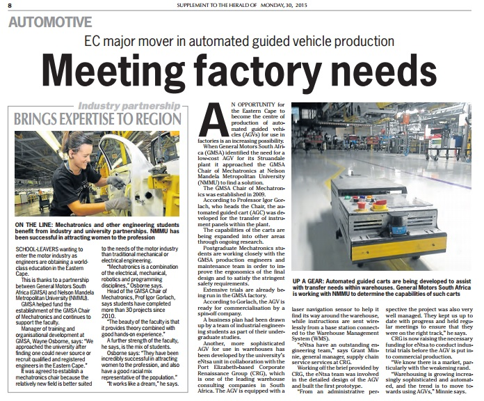 Meeting factory needs