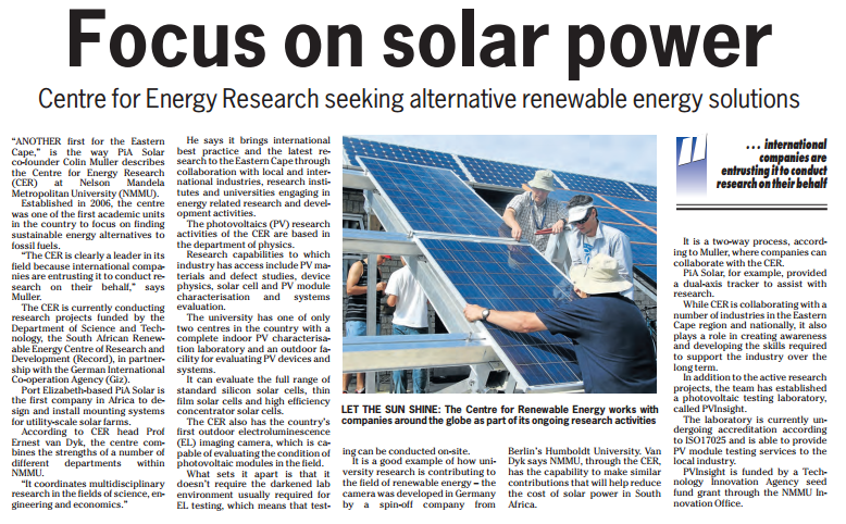 Centre for Energy Research seeking alternative renewable energy solutions