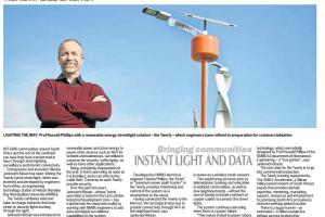Twerly: Bringing communities instant light and data